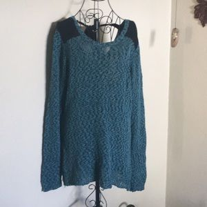 Teal sweater light weight for fall xl Maurice's